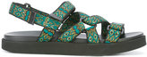 MSGM geometric pattern straps sandals - men - Cotton/Nylon/Polyurethane/rubber - 41