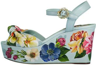 Dolce & Gabbana Floral Printed Platform Wedge