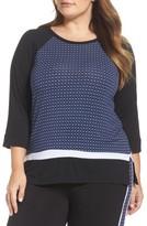 DKNY Plus Size Women's Mixed Print Sleep Shirt