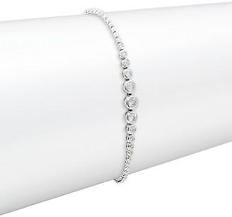 Diana M 14K White Gold & 1 TCW Diamond Pull-Through Bracelet