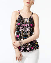 INC International Concepts Embellished Keyhole Top, Only at Macy's