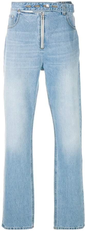 Helmut Lang zip front jeans