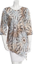 Philosophy di Alberta Ferretti Silk Printed Tunic w/ Tags