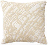 "Donna Karan Rhythm Ivory 14"" Square Decorative Pillow Bedding"