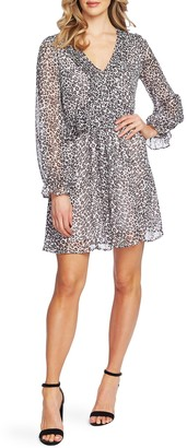 Cece By Cynthia Steffe Mountain Leopard Long Sleeve Dress