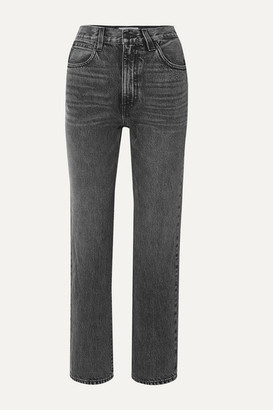 Slvrlake SLVRLAKE - London Cropped High-rise Straight-leg Jeans - Gray