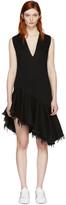 Marques Almeida Black Denim V-neck Dress