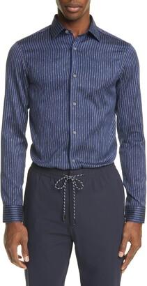 Ermenegildo Zegna Extra Slim Fit Stripe Button-Up Shirt