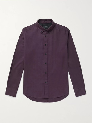 Rag & Bone Tomlin Slim-Fit Button-Down Collar Cotton-Blend Shirt - Men - Purple