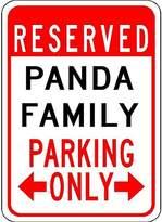 "VinMea Metal Signs Panda Family Parking - Customized Last Name - 12""X18"" Quality Aluminum Sign"