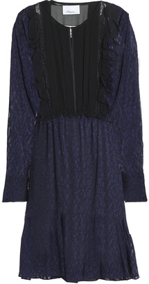 3.1 Phillip Lim Ruffle-trimmed Fil Coupe Silk-blend Georgette Dress