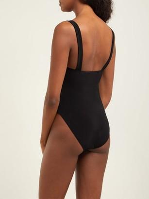 Norma Kamali Twist Mio Ruched Swimsuit - Black