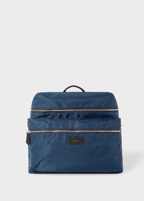 Paul Smith Navy Baby Bag With 'Artist Stripe' Changing Mat