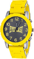 Everlast Mens Yellow Silicone Strap Sport Watch