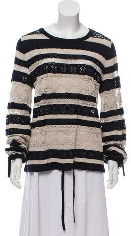 Chloé Stripe Open Knit Top