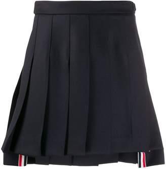 Thom Browne dropped-back pleated mini skirt