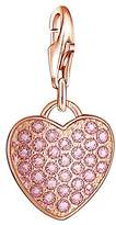 Thomas Sabo Women Charm Heart 925 Sterling Silver rosegold pink
