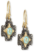 Armenta Old World Midnight Crivelli Cross Earrings with Black Diamonds
