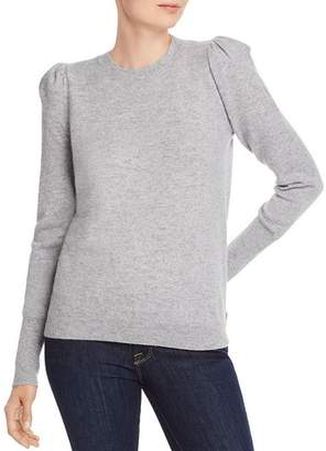 Aqua Puff-Sleeve Cashmere Sweater - 100% Exclusive