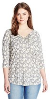 Lucky Brand Women's Plus-Size Pintucked Top