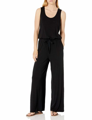 Amazon Essentials Women's Standard Sleeveless Scoop-Neck Wide-Leg Jumpsuit