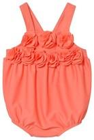 Lili Gaufrette Coral Rose Applique Swimsuit