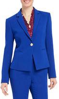 Ellen Tracy Long Sleeve Single Button Jacket