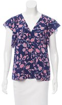 Rebecca Taylor Floral Printed Silk Top w/ Tags
