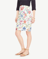 Ann Taylor Petite Jungle Floral Pencil Skirt