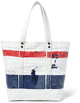 Polo Ralph Lauren Big Pony Bar Striped Canvas Tote
