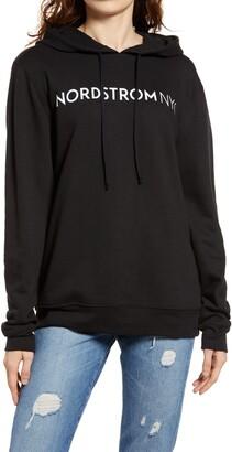 BP Nordstrom NYC Wink Emoji Graphic Hoodie Sweatshirt