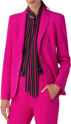 Akris Punto Notch-Collar Stretch Crepe Blazer
