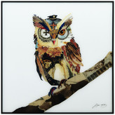 """Empire Art Direct """"The Wisest Owl"""" Printed Wall Art Framed With Black Anodized Aluminum"""