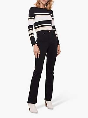 Mint Velvet Block Striped Jersey Top, Stripe