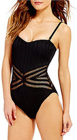 Kenneth Cole New York Tough Luxe Bandeau One-Piece