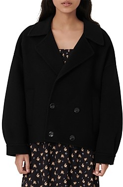 Maje Baeli Wool Blend Jacket