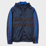 Paul Smith Men's Navy Showerproof Hooded Jacket With Contrast Side-Stripes