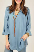 Ivy Jane / Uncle Frank Boho Denim Tunic Top