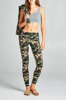 Active Basic Soft Camouflage Leggings