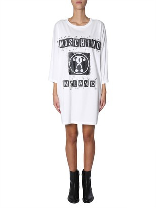 Moschino Oversize Fit Dress With Logo