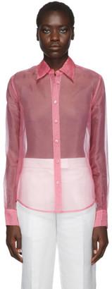Helmut Lang Pink Organza Shirt
