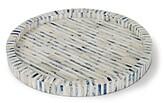 Regina-Andrew Design Regina Andrew Design Indigo Stripe Tray