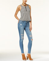 Hudson Collin Ripped Anchor Light Wash Skinny Jeans