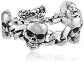 """King Baby Studio Men's Classic Skull Link Bracelet, 8.75"""""""