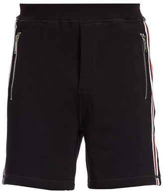 DSQUARED2 Relax Fit Side-Paneled Fleece Shorts
