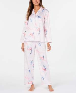 Miss Elaine Brushed Back Satin Pajama Set