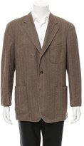Loro Piana Three-Button Herringbone Sport Coat