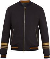 Dolce & Gabbana Embroidered wool-blend bomber jacket
