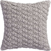 "CB2 Gravel Light Grey 18"" Pillow With Feather-Down Insert"