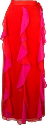 Dvf Diane Von Furstenberg Ruffle Maxi Skirt